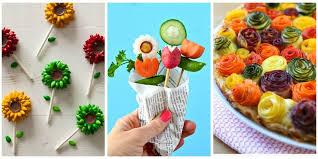 edible food arrangements 20 ways to make your food look like flowers flower shaped foods