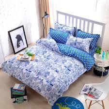 high count density cotton duvet covers set black bedding set