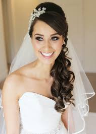 Elegant Bridal Hairstyles by Stylish Hairstyle With Long And Short Hairs With Veil For Wedding