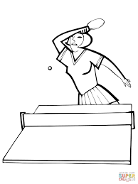 woman playes table tennis coloring page free printable coloring