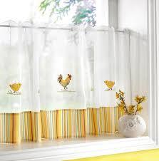 rideaux pour cuisine cuisine design rideaux cuisine blanc jaune motifs animaux 54