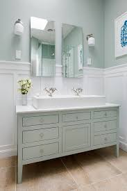 Green Board In Bathroom Bathroom Next Steps Which Wainscoting Look From Thrifty Decor
