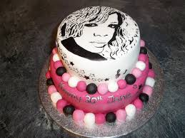 rihanna cake 2 teir hand painted rihanna cake decorated u2026 flickr