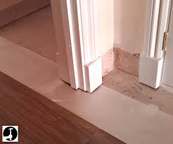 Laminate Flooring For Walls Laying Laminate In A Doorway