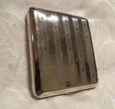 Vintage Business Card Case Vintage Silver Cigarette Case German 1940s Business Card Case