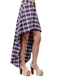 3 1 super trendy button up high waisted plaid print high low maxi