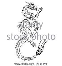 chinese dragon tattoo design stock vector art u0026 illustration