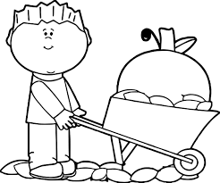 fall carrying boy coloring page wecoloringpage