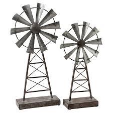 Farmhouse Windmill Table Top Decor Set of 2 Free Shipping