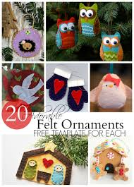 20 adorable felt ornaments felt ornaments felting and ornament