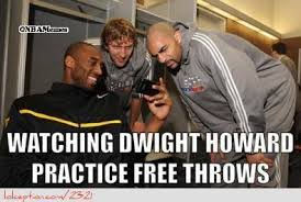 Dwight Howard Meme - dwight howard practicing free throws http weheartnyknicks com