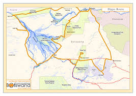 Botswana Map Travel Adventures Botswana Hippo Route Self Drive Safaritravel