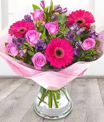 flowers bouquet pink hot pink flower bouquet eflorist flowers