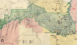 Winslow Arizona Map Arizona Map Grand Canyon Image Gallery Hcpr