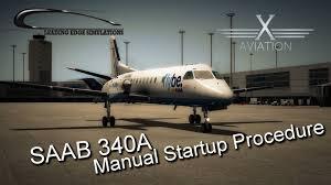 x plane10 saab340a manual startup procedure full youtube