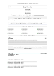Build Online Resume by Free Online Resume Format Resume For Your Job Application