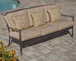 Agio Manhattan by Agio Tradition Transitional Alumicast Outdoor Deep Seat Sofa With