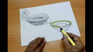 how to draw beautiful drawing beautiful diya drawing
