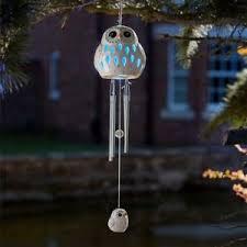 solar powered wind chime light smart solar ceramic snowy owl wind chime light solar powered 2018