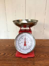 Vintage Kitchen Scales Vintage Retro Weighing Scales Red U0026 Metal Perfect Condition In