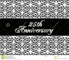 Silver Anniversary Invitation Cards 25th Anniversary Invitation Card Royalty Free Stock Images Image