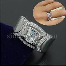 aliexpress buy 2ct brilliant simulate diamond men 123 best statement rings images on statement rings