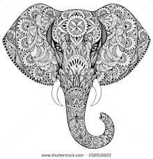 Indian Art Tattoo Designs Elephant Head Indian Art Art Pinterest Elephant Head