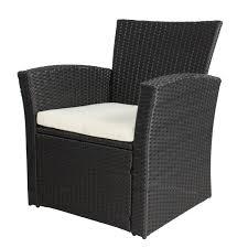 Pc Outdoor Patio Garden Furniture Wicker Rattan Sofa Set Black - Rattan furniture set
