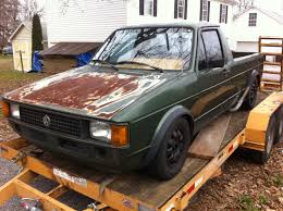 old rusty volkswagen making an 82 rabbit pick up not at moving builds and project