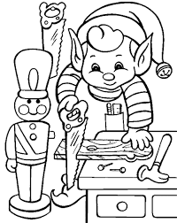 elf christmas coloring pages glum me