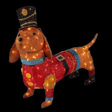 home accents holiday 40 in pre lit tinsel dachshund dog in