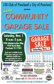 garage sale the 100 club of pearland