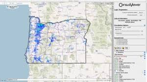 population of oregon census 2010 and 2000 interactive map
