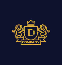 luxury letter d logo royalty free vector image