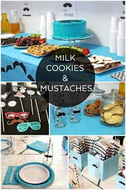 mustache party milk cookies and mustaches party and free mustache printables