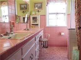 mid century bathroom tile dark cabinet hardware room mid
