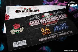 wedding invitations edinburgh heavy metal wedding stationery wedfest