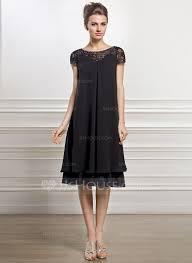robe de m re de mari empire scoop neck knee length chiffon lace of the