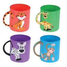 amazon com assorted color animal mugs 1 dz toys u0026 games