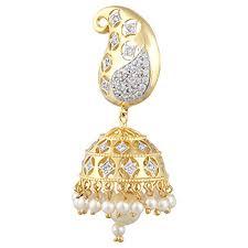 jhumkas earrings jewels women s american diamond cz fashion jewellery traditional