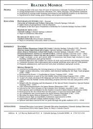 Resume Of A Teacher Sample by Example Resume Teacher Sample Resume For Early Childhood Teacher