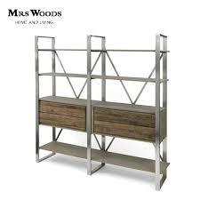 Steel Frame Bookcase Double Sided Metal Bookshelves Double Sided Metal Bookshelves