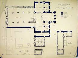 7 print ground floor plan valle crucis abbey 1899 transept 179b303