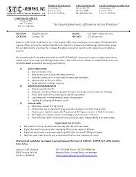Sample Resume Maintenance by February 2014 Job U0026 Career News From The Memphis Public