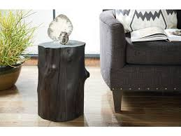 tree trunk end table hammary living room charred tree trunk accent table 090 887 stacy