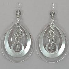 michael richardson earrings michael richardson silver and bead earrings rainbow