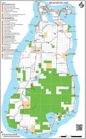 Squaw Trail Map Beaver Island Michigan