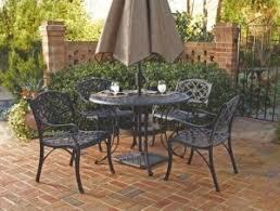 biscayne 5 piece cast aluminum round patio dining set outdoor
