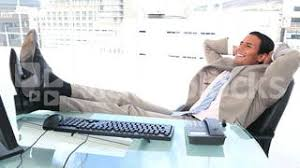 Feet On The Desk Happy Businessman With His Feet On A Desk Stock Video Footage