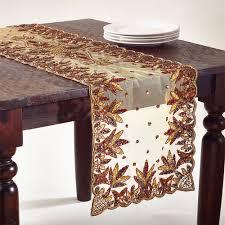 Beaded Table Linens - elegant hand beaded rectangular table runner www fenncostyles com